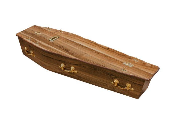 Walnut Chip Coffin