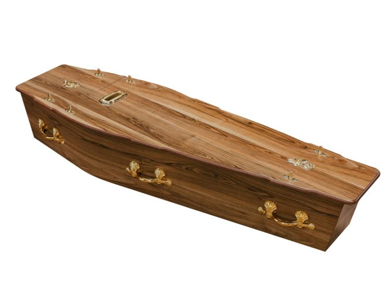 Walnut Chip Coffin