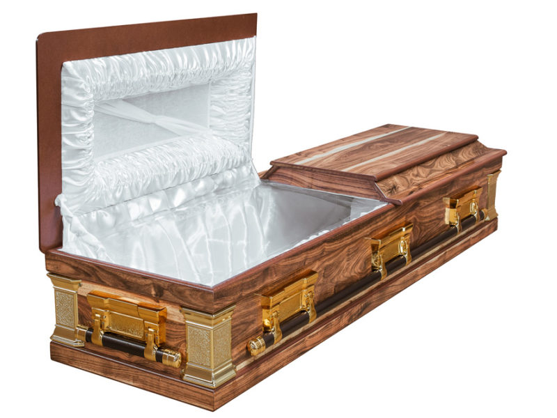 Kiaat Halfview Casket Windsor Open