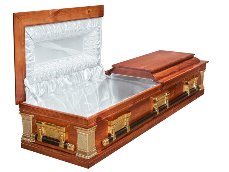 Pine Halfview Casket Windsor Open