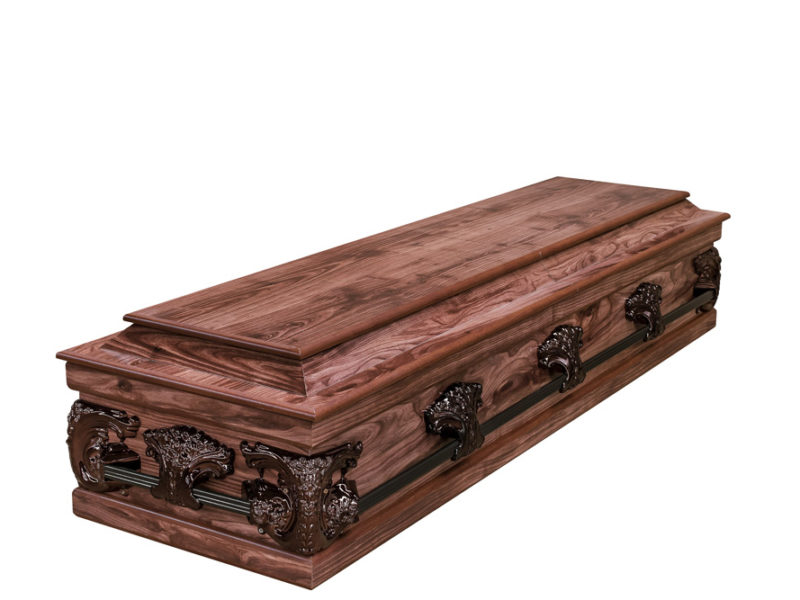 Redwood Halfview Casket RS Bronze Closed