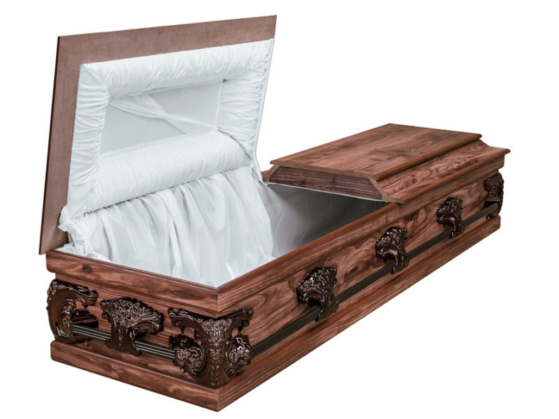Redwood Halfview Casket RS Bronze Open
