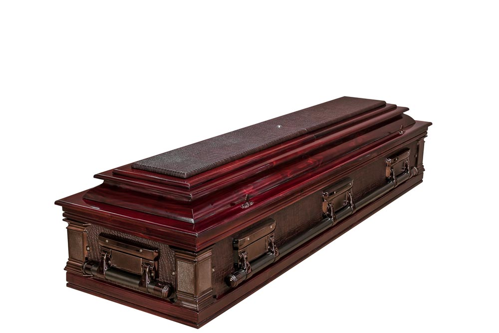 Classic Alligator Casket Closed