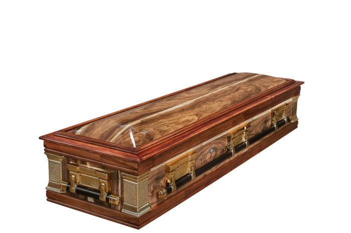 Casket vs Coffin Manufacturers, Standard Coffin Size, Caskets Prices, Prices of Coffins in South Africa, Caskets for Sale. Kiaat Fullview Mini-Dome Closed