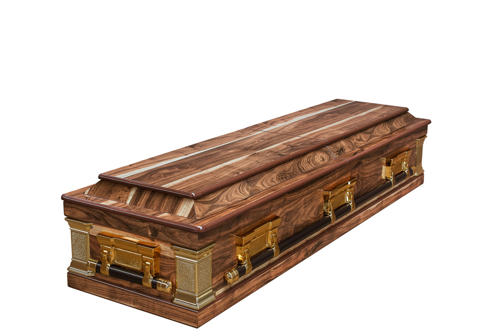 Kiaat Halfview Casket Windsor Closed