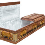 Casket vs Coffin Manufacturers, Standard Coffin Size, Caskets Prices, Prices of Coffins in South Africa, Caskets for Sale. Kiaat Halfview Casket Windsor Open