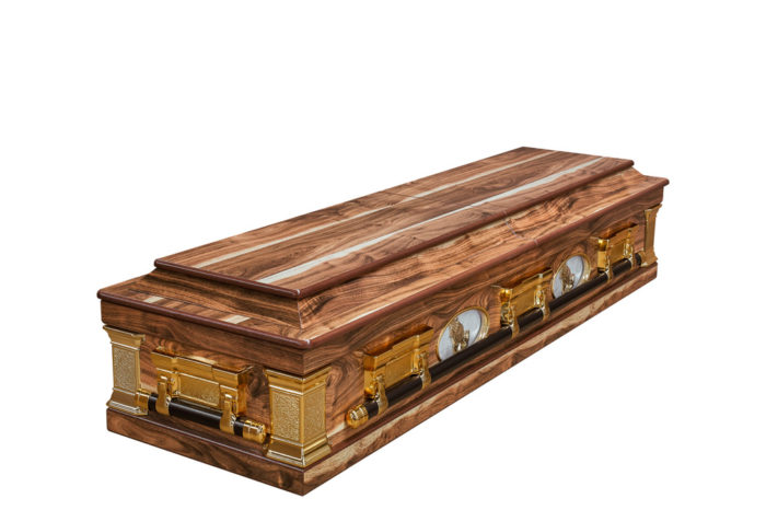 Casket vs Coffin Manufacturers, Standard Coffin Size, Caskets Prices, Prices of Coffins in South Africa, Caskets for Sale. Kiaat Porthole Casket Closed
