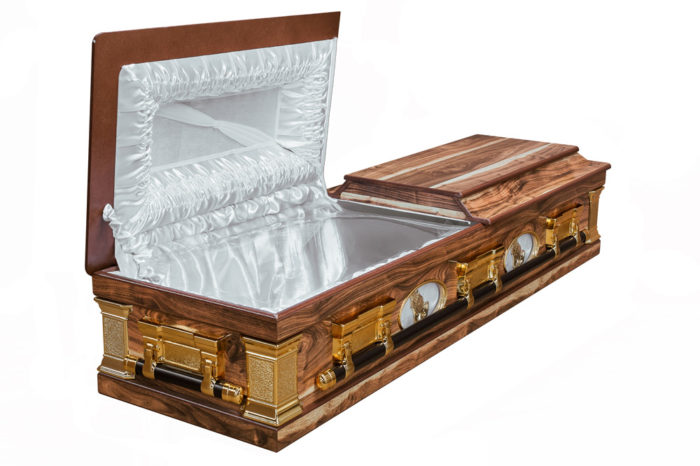 Casket vs Coffin Manufacturers, Standard Coffin Size, Caskets Prices, Prices of Coffins in South Africa, Caskets for Sale. Kiaat Porthole Casket Open