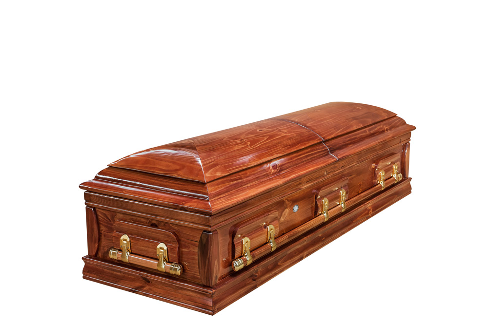 Casket vs Coffin Manufacturers, Standard Coffin Size, Caskets Prices, Prices of Coffins in South Africa, Caskets for Sale. Light stain Dome Closed
