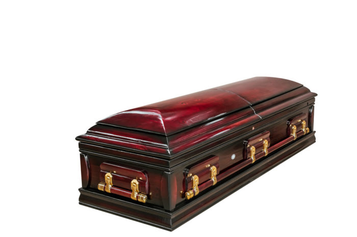 Casket vs Coffin Manufacturers, Standard Coffin Size, Caskets Prices, Prices of Coffins in South Africa, Caskets for Sale. Polished Pine Dome Closed