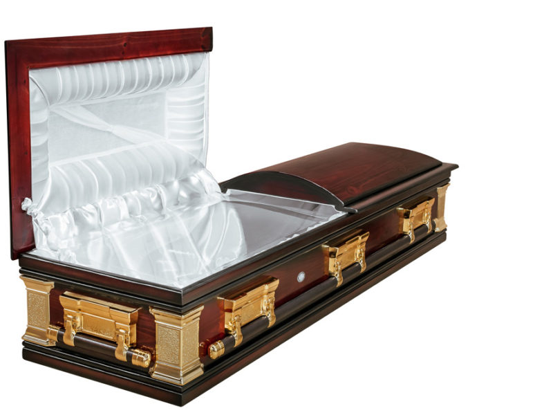Casket vs Coffin Manufacturers, Standard Coffin Size, Caskets Prices, Prices of Coffins in South Africa, Caskets for Sale. Polished Pine Mini-Dome Open