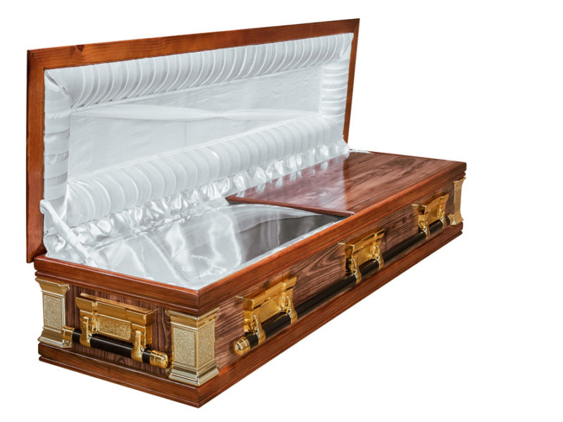 Casket vs Coffin Manufacturers, Standard Coffin Size, Caskets Prices, Prices of Coffins in South Africa, Caskets for Sale. Redwood Fullview Mini-Dome Open