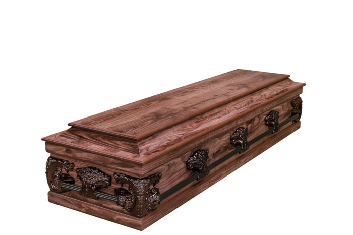 Casket vs Coffin Manufacturers, Standard Coffin Size, Caskets Prices, Prices of Coffins in South Africa, Caskets for Sale. Redwood Halfview Casket RS Bronze Closed