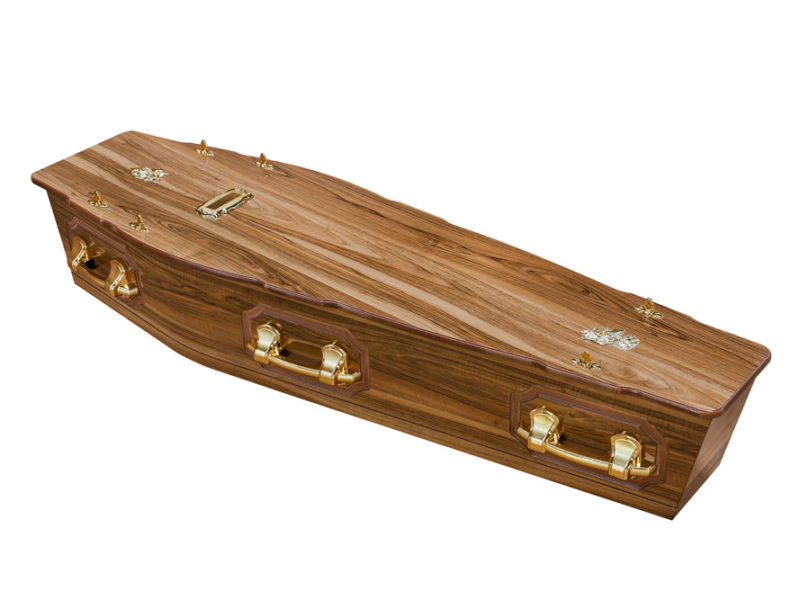 Casket vs Coffin Manufacturers, Standard Coffin Size, Caskets Prices, Prices of Coffins in South Africa, Caskets for Sale. Walnut Flat + P Coffin