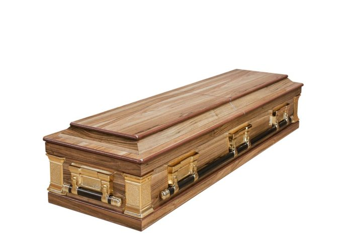Casket vs Coffin Manufacturers, Standard Coffin Size, Caskets Prices, Prices of Coffins in South Africa, Caskets for Sale. Walnut Halfview Casket Windsor Closed