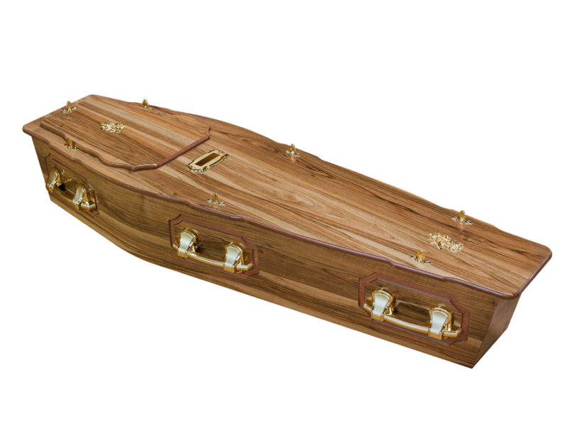 Casket vs Coffin Manufacturers, Standard Coffin Size, Caskets Prices, Prices of Coffins in South Africa, Caskets for Sale. Walnut ROF + P Coffin
